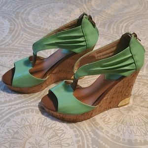 Seafoam Green or Mint Wedges Size 7